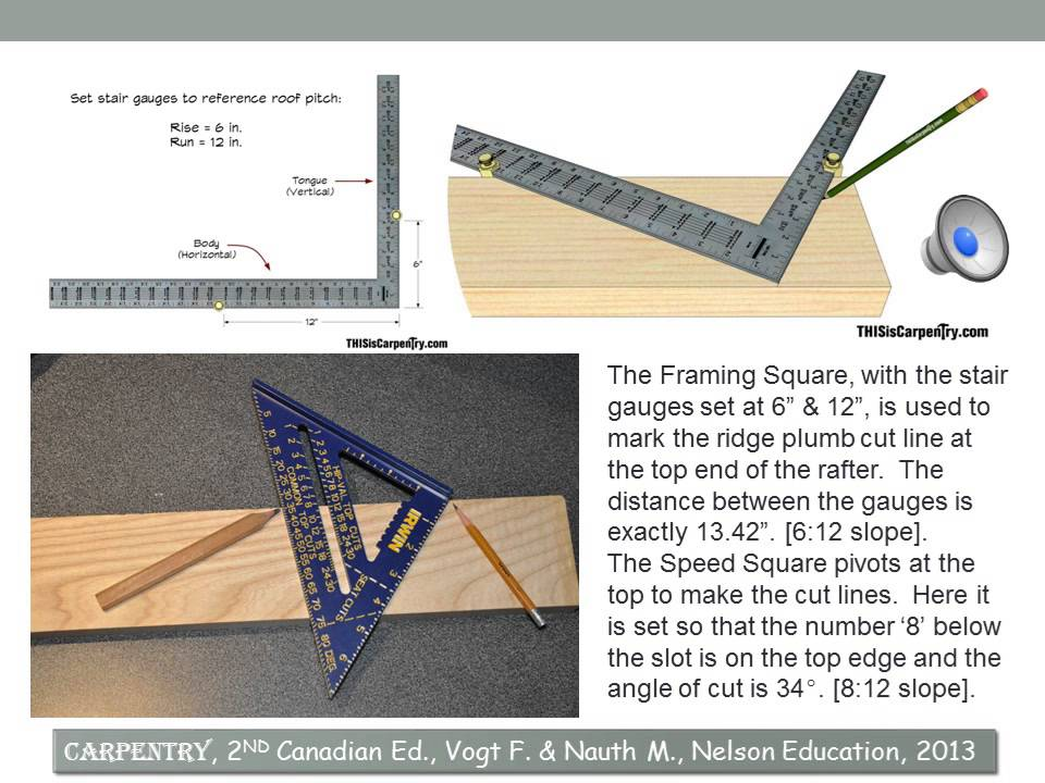 how to cut common rafters samuri