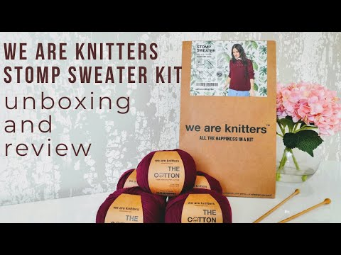 Unboxing & Review: We Are Knitters Stomp Sweater kit