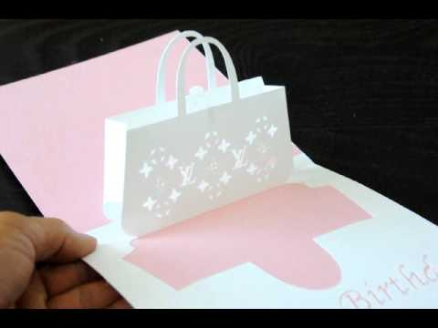 354de6f6bbe1 Louis Vuitton Bag Pop-up Card - YouTube
