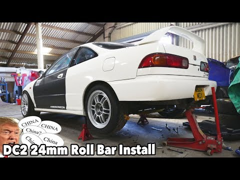 DC2 24mm Adjustable Rear Anti Roll Bar Install.