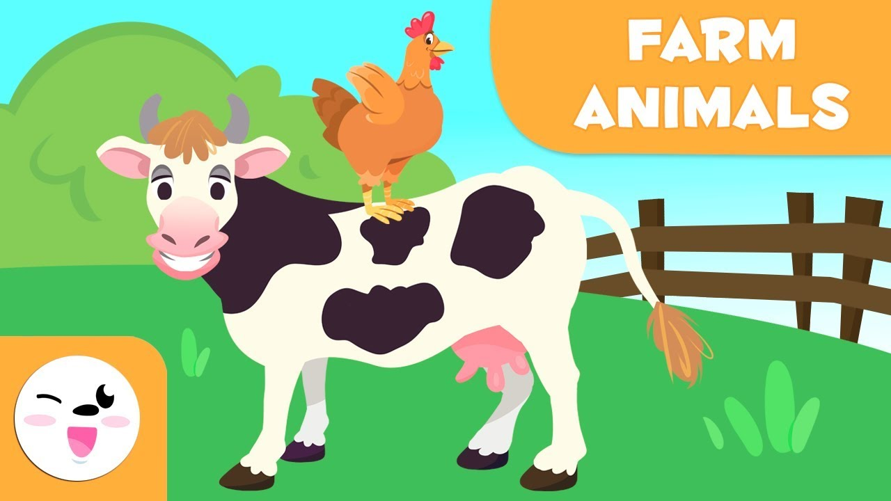 Farm Animals For Kids Vocabulary Fo Kids Youtube