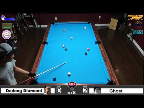 James Aranas (Dodong Diamond) Vs 12-ball Ghost, Race To 15.