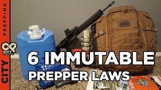 6 Immutable Prepper Laws