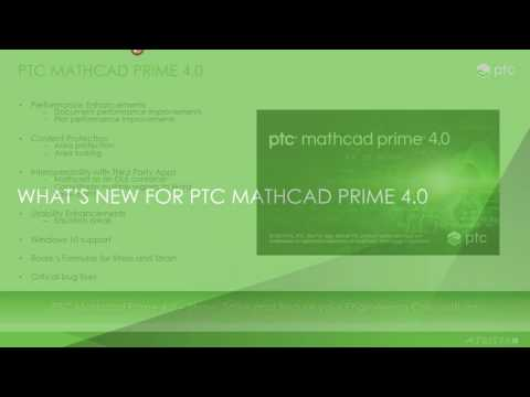 Viewing Webinar Replay: What's New in PTC Mathcad 4 0