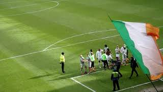 Celtic Celebrate At Ibrox