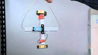 Gyroscope spin axis aligns with rotation axis