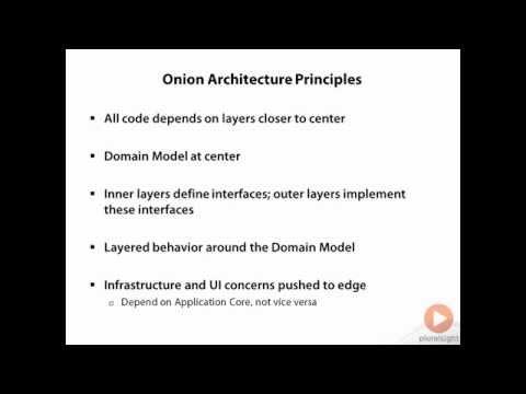 Onion architecture design for web applications in C#   Pluralsight