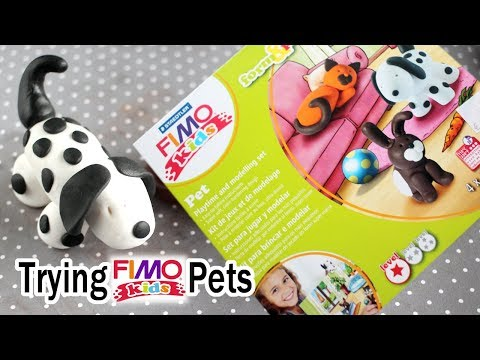Trying FIMO Kids Form And Play Pet Set - Polymer Clay Crafts