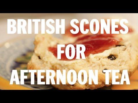 British scones for afternoon tea