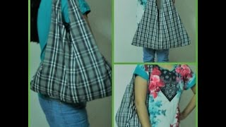 Convert or Reuse Men's Shirt into Tote or boho bag | Learning Process