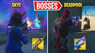 I Eliminated ALL Bosses As DIFFERENT Bosses In Fortnite
