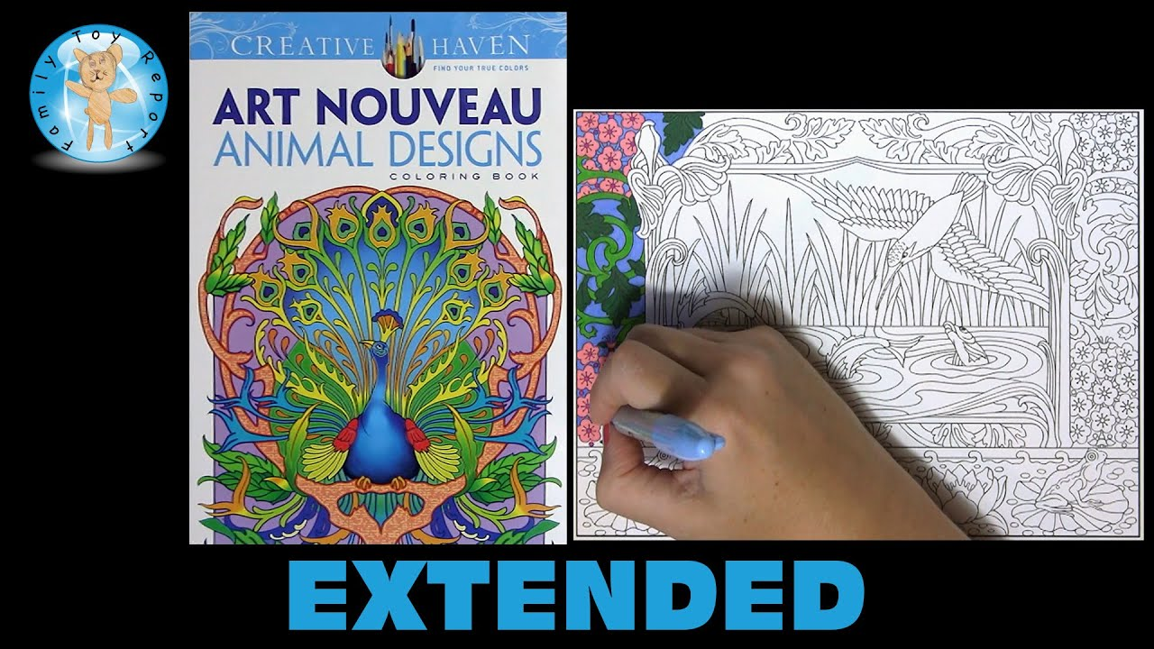 Creative Haven Art Nouveau Animal Designs Adult Coloring Book Bird Extended
