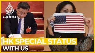 Hong Kong autonomy: Special status with US in doubt
