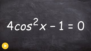 How to solve a trig equation with square roots