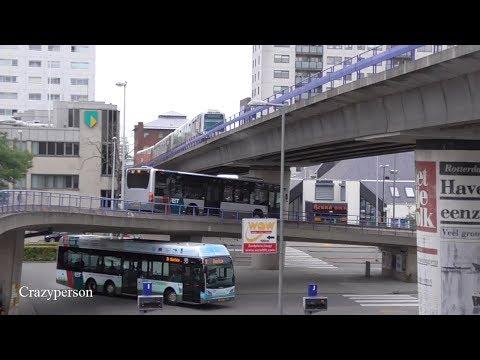 Bussen en Metro's Rotterdam Zuidplein Compilatie 2018