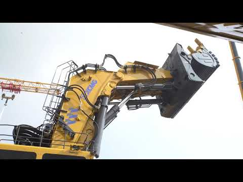 China's largest tonnage mining excavator XE7000 Equipment demonstration (2018 Bauma China)