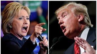 Дональд Трамп чпокнул Хиллари Клинтон