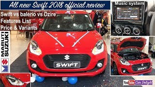 Maruti Swift 2018 | 2018 Swift Interior,Exterior,Features Review | Swift 2018 vs Baleno