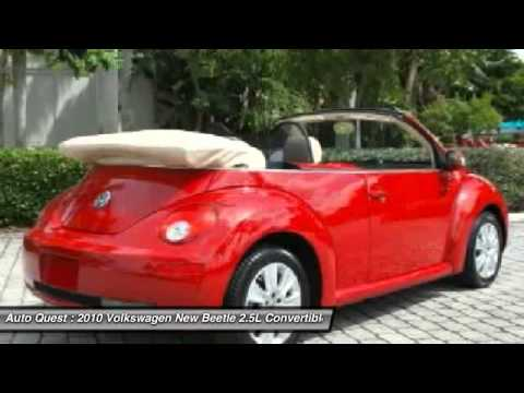 2010 Volkswagen New Beetle 2.5L Convertible Fort Myers Beach FL 33931