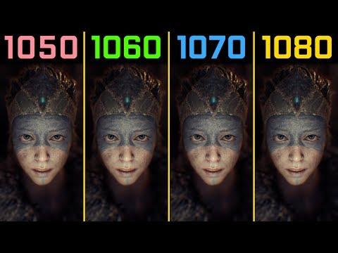 Hellblade Senua's Sacrifice GTX 1050 Ti vs. GTX 1060 vs. GTX 1070 vs. GTX 1080