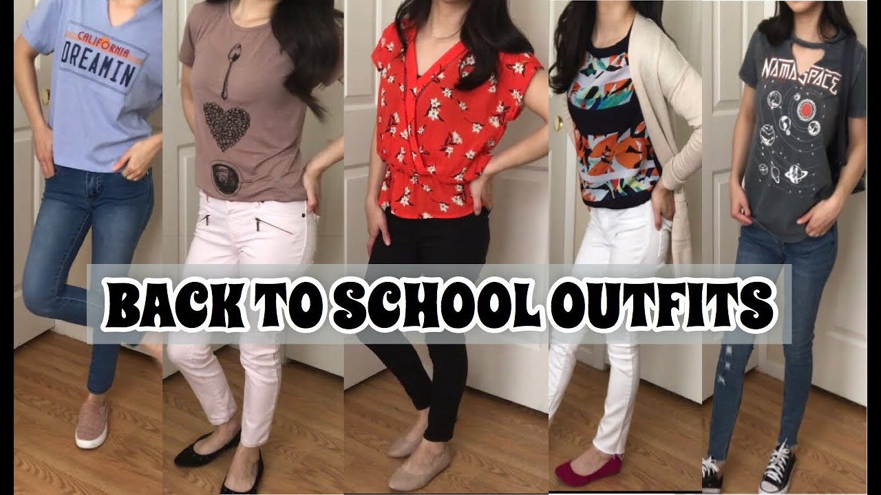 5 BACK TO SCHOOL OUTFITS IDEAS | Comfy & Cute 2