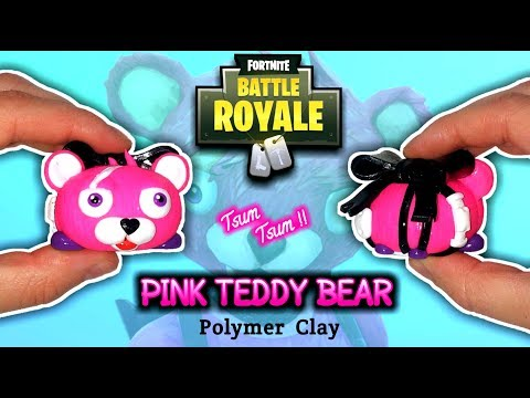 PINK TEDDY BEAR | FORTNITE | Polymer Clay Tutorial