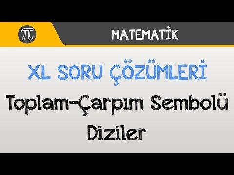 Toplam - Çarpım Sembolü / Diziler