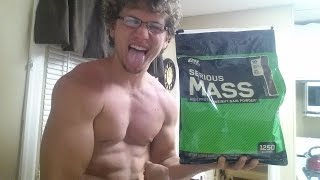 Optimum Nutrition Serious Mass Gainer Review, Unboxing & Taste Test!!!