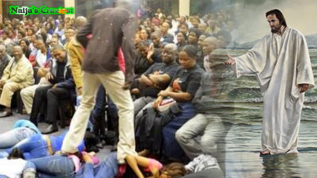 Download Pastor Lesego Walks On Church Members Instead of Water Like Jesus