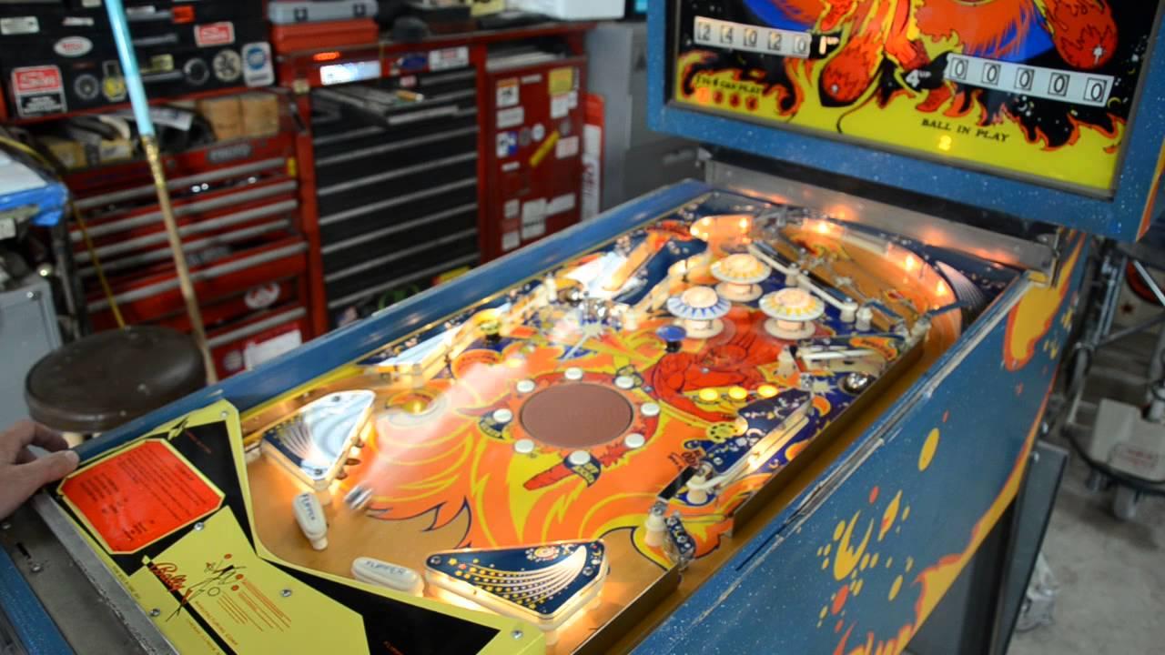 1972 Bally FIREBALL Pinball Machine (unshopped and raw)