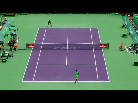 Roger Federer SABR in Miami Open 2017