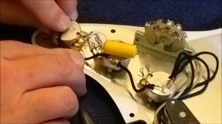 Fender Stratocaster Texas Special pickguard build and install