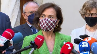 Calvo asegura que España registra ahora los mejores datos de Europa ante el Coronavirus.