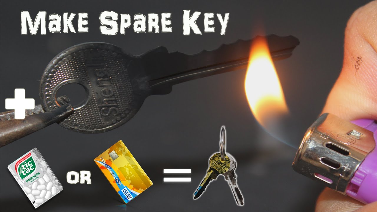 Make Emergency Homemade Spare Key With TicTac Bottle or Credit Card
