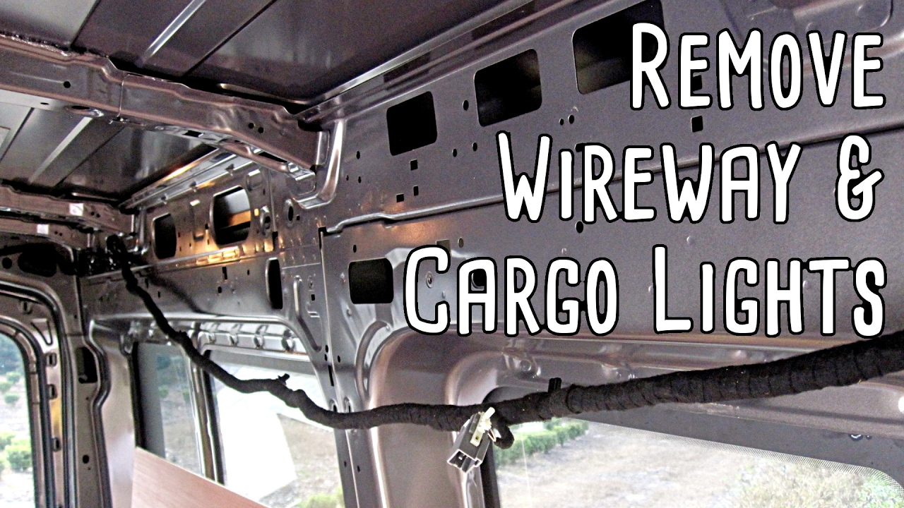 Remove The Wireway Cargo Lights Ford Transit Youtube Wiring A Trailer Light Board