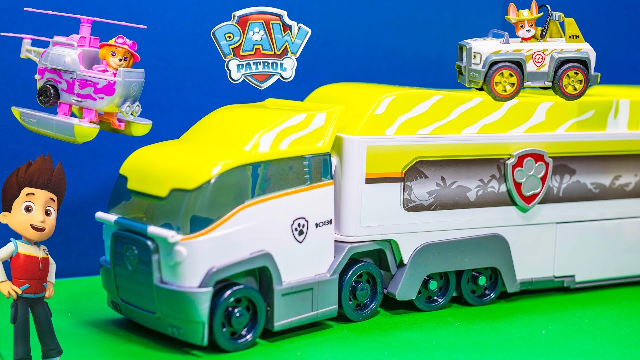 Unboxing The Paw Patrol Jungle Patroller With Tracker Toys