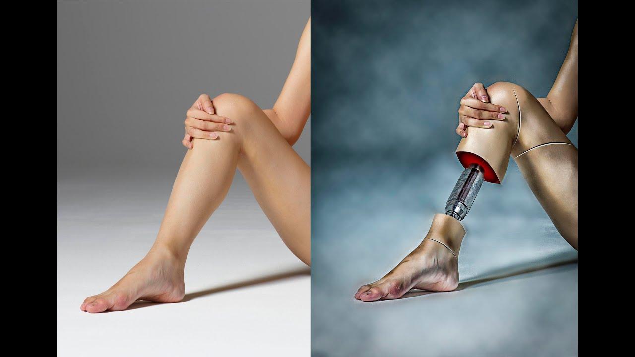 How to Photoshop Manipulation Tutorial of leg Photo - YouTube