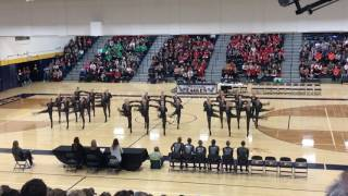 eastview dance team kick 2017 section 1aaa 1st place