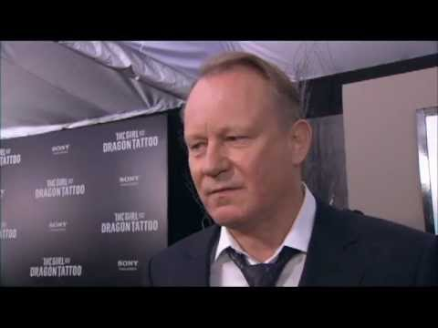 Stellan Skarsgaard's 'The Girl with the Dragon Tattoo' Premiere Red Carpet Interview
