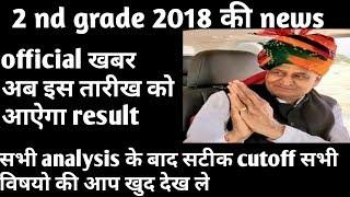 Rpsc 2nd grade 2018 result आ गया देखे साथ ही cut all subject