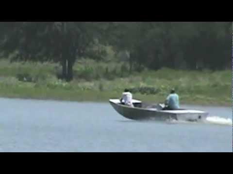 Steve hall jet jon boat mcgregor tx youtube for Jon boat with jet motor