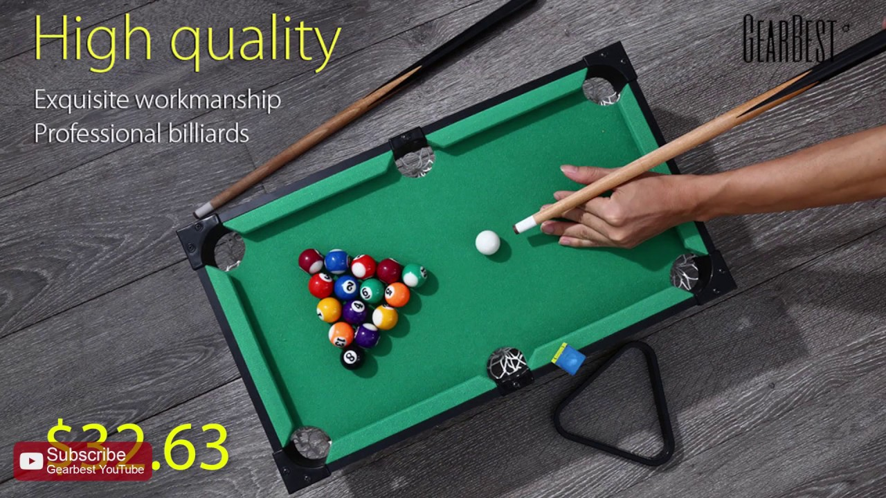 Mini Pool Set Billiard Ball Table Game Gearbestcom YouTube - How many balls on a pool table