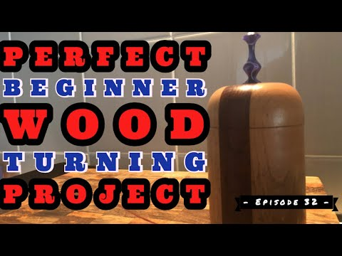 Super Easy Beginner Wood Turning Project