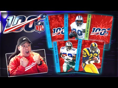 NFL 100 MASTER PULL!! Madden Mobile 20 ALL NFL 100 Pack Opening!! CENTENNIAL, ALL MADDEN & MORE!!