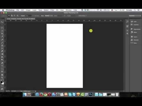 How to Design a Newsletter Template Part 1 -  Setting Up the Document