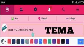 Gambar cover VIRAL. Cara ubah tampilan facebook menjadi warna pink