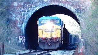 CSX Coal Train Coming thru Sykesville Tunnel