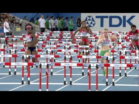 Sally Pearson sets a championship record in the Women's 100m Hurdles Final