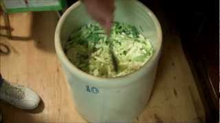 Food Storage Canning Sauerkraut Part I