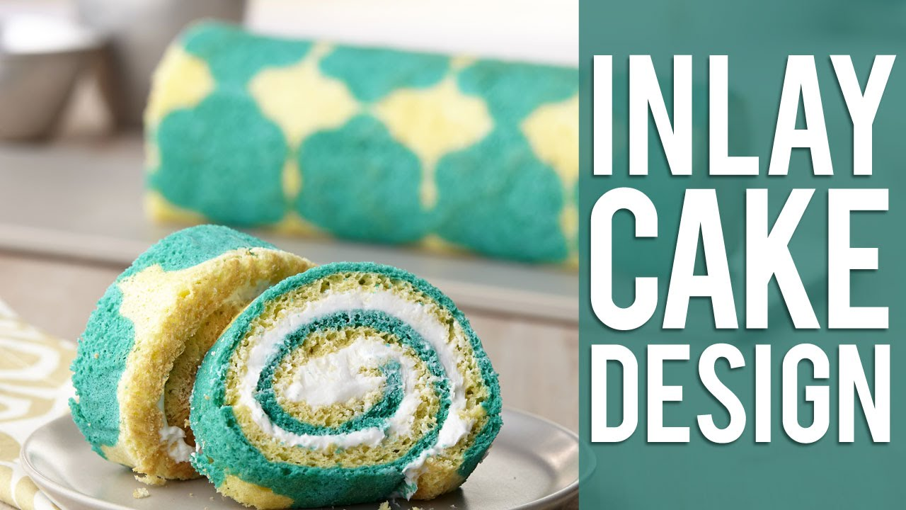 Roll Cake Design Template : How to Make an Inlay Japanese Roll Cake - YouTube